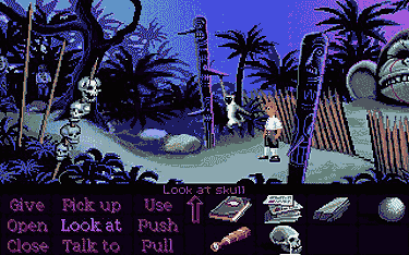 Captura de pantalla de Monkey Island (Copyright Lucas Arts)