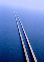 Imagen aérea del puente más largo del mundo