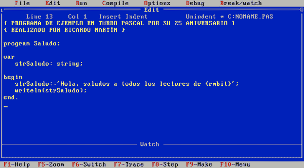 ejemplos programas pascal: